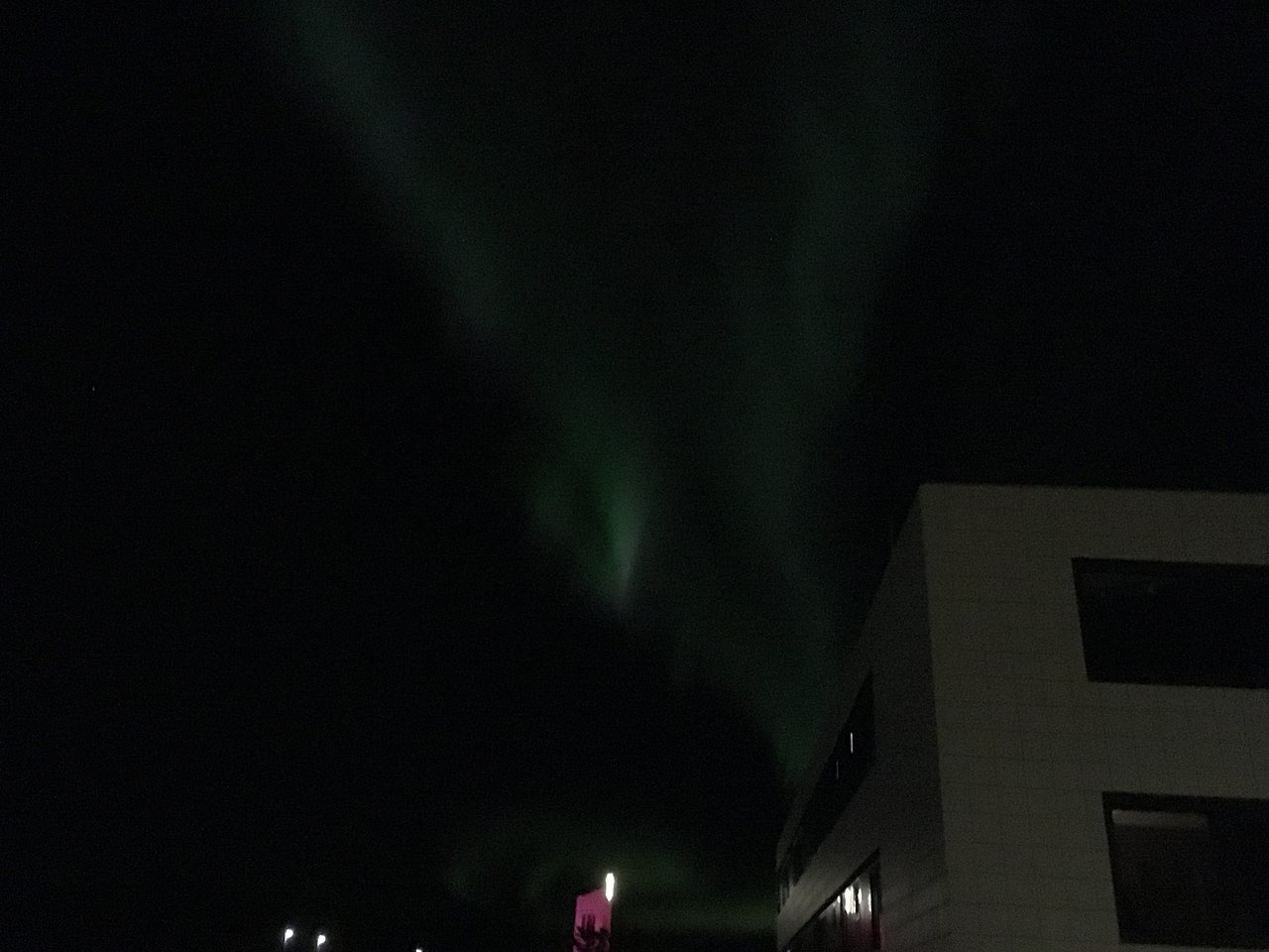 The Northern Lights- not a great photo, | Photo taken by Anastasia M