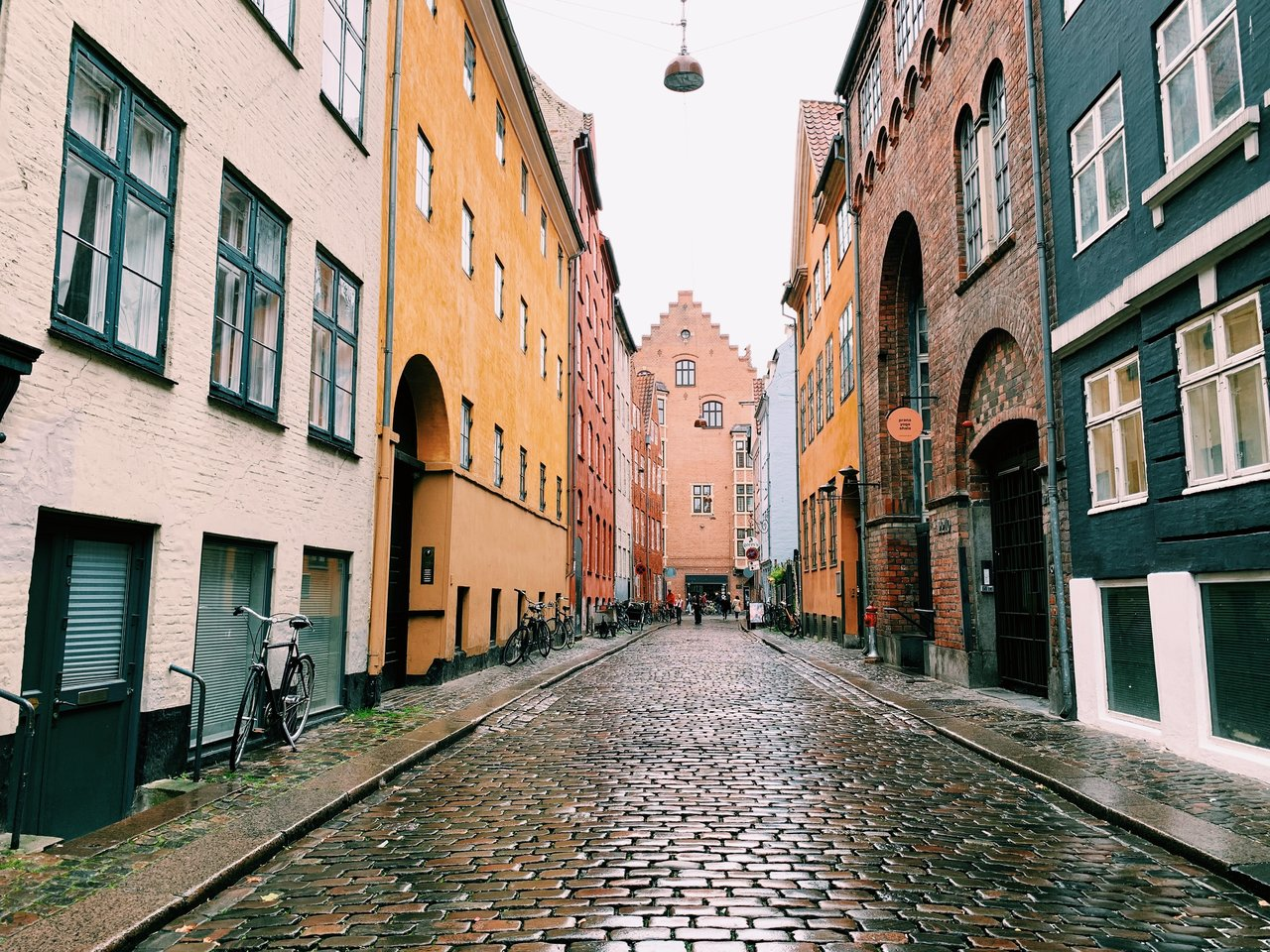Pretty street in Copenhagen | Photo taken by Michael W