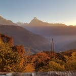 Sunrise in the Himalaya. | Photo taken by Wayne P