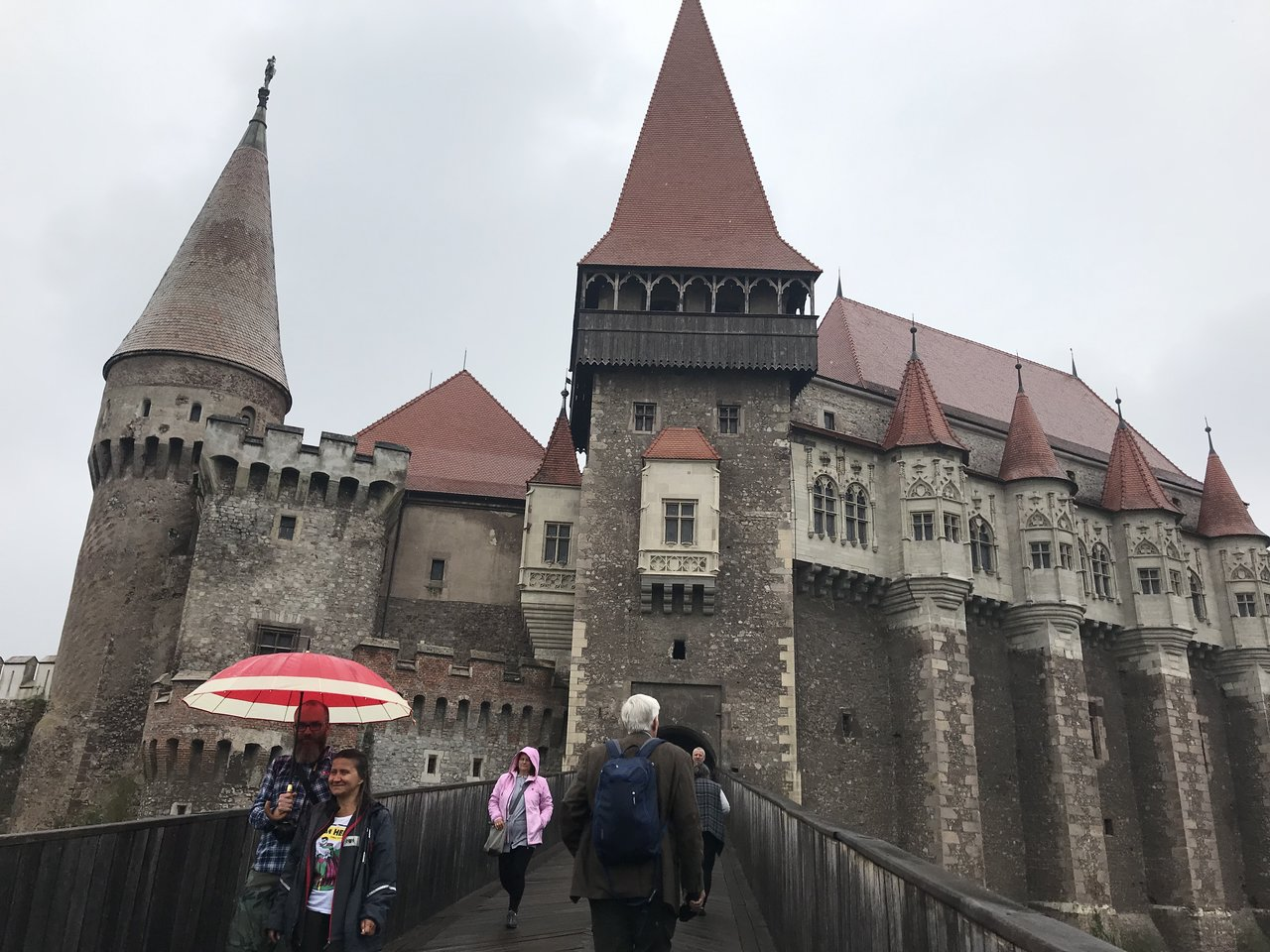 Corvin Castle on a rainy day  | Photo taken by Anne L