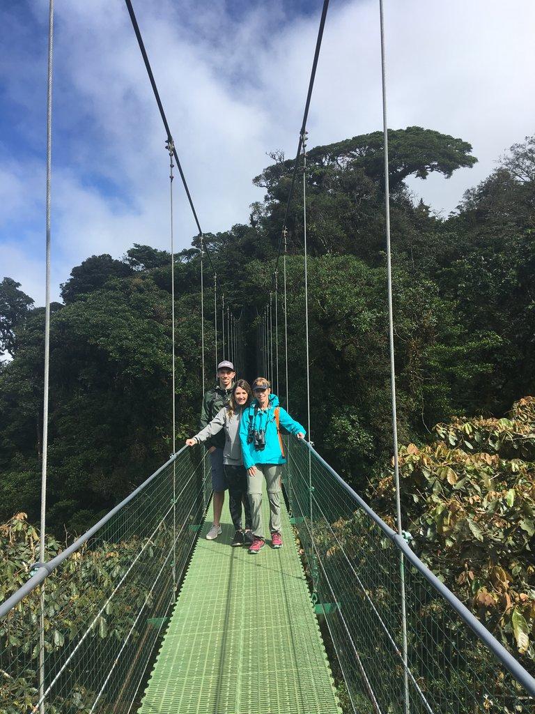 Sky Walk over Hanging Bridges in Monteverde Cloud Forest | Photo taken by Rachel H