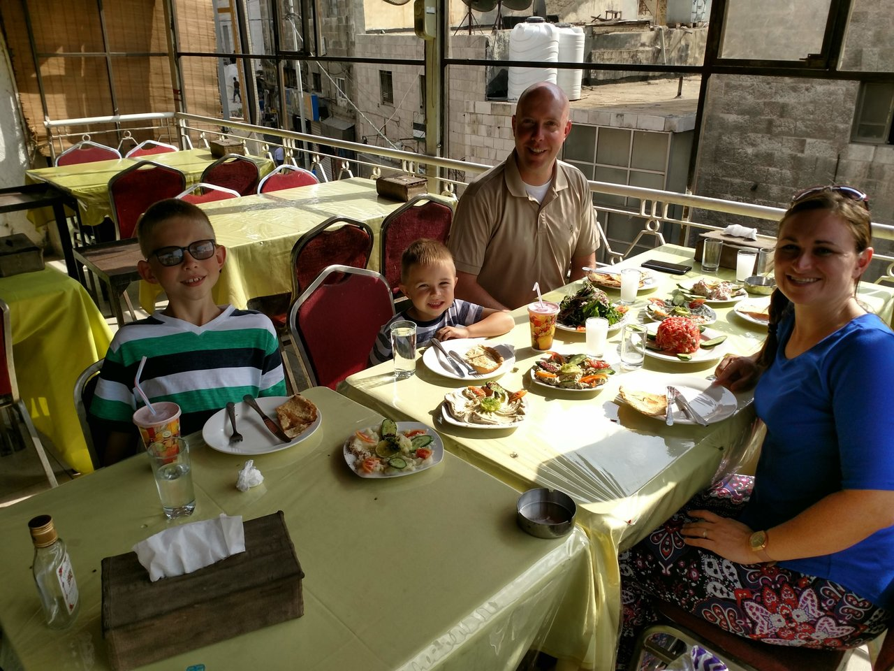 Lunch on a roof top - Amman | Photo taken by Brad F
