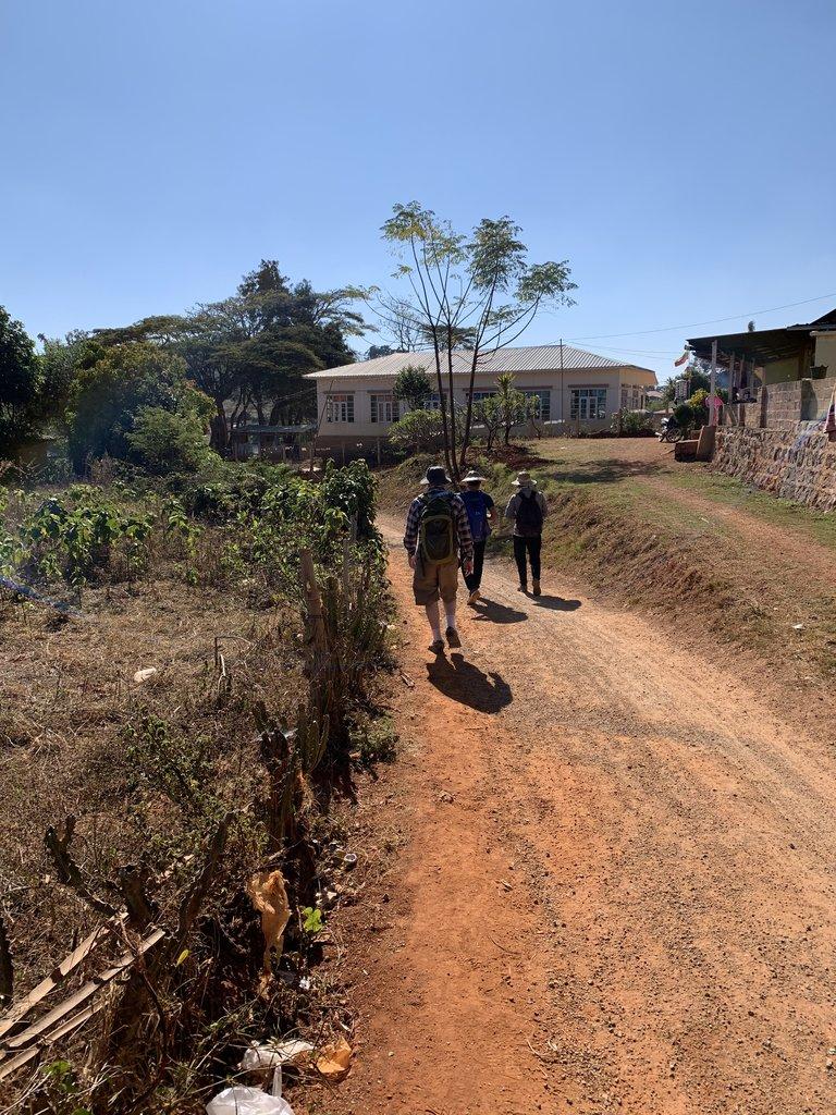 Hiking through villages   Photo taken by Bonnie S