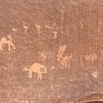 Petroglyphs in Wadi Rum | Photo taken by sheldon k