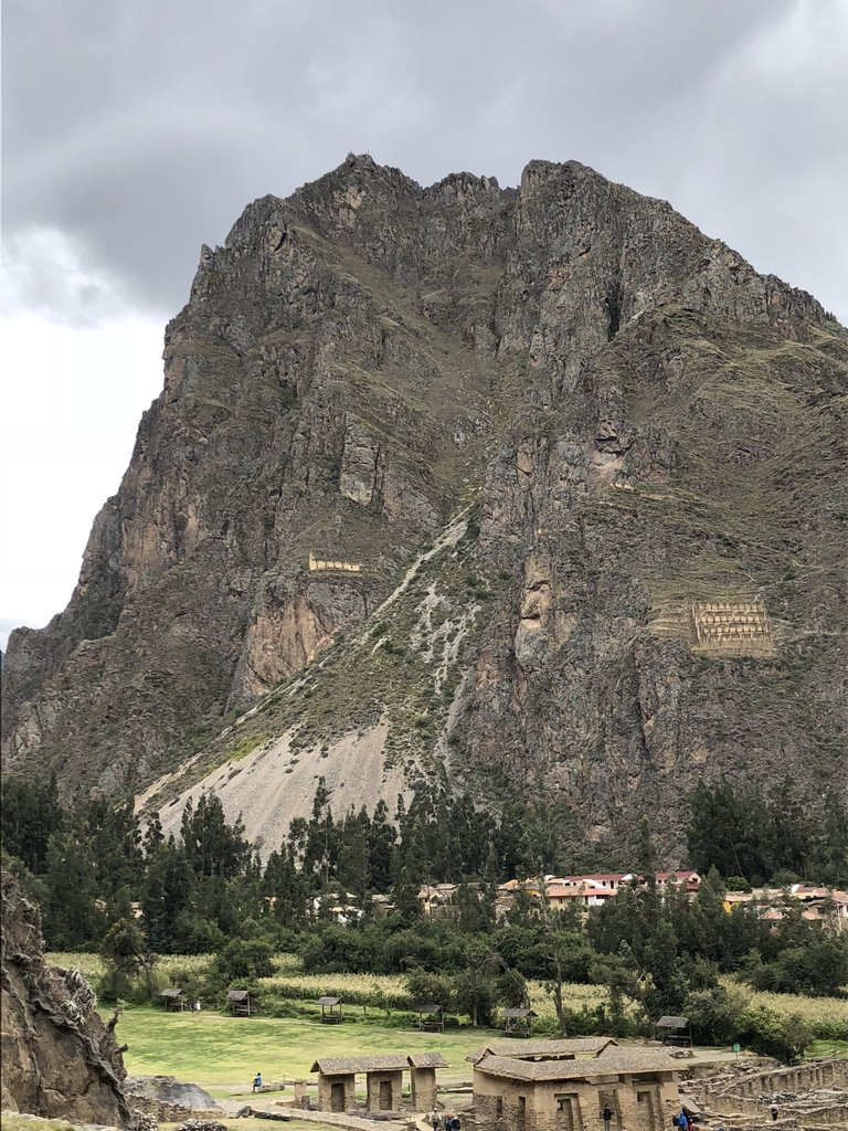 Ollantaytambo - the face on the rock | Photo taken by Susan D