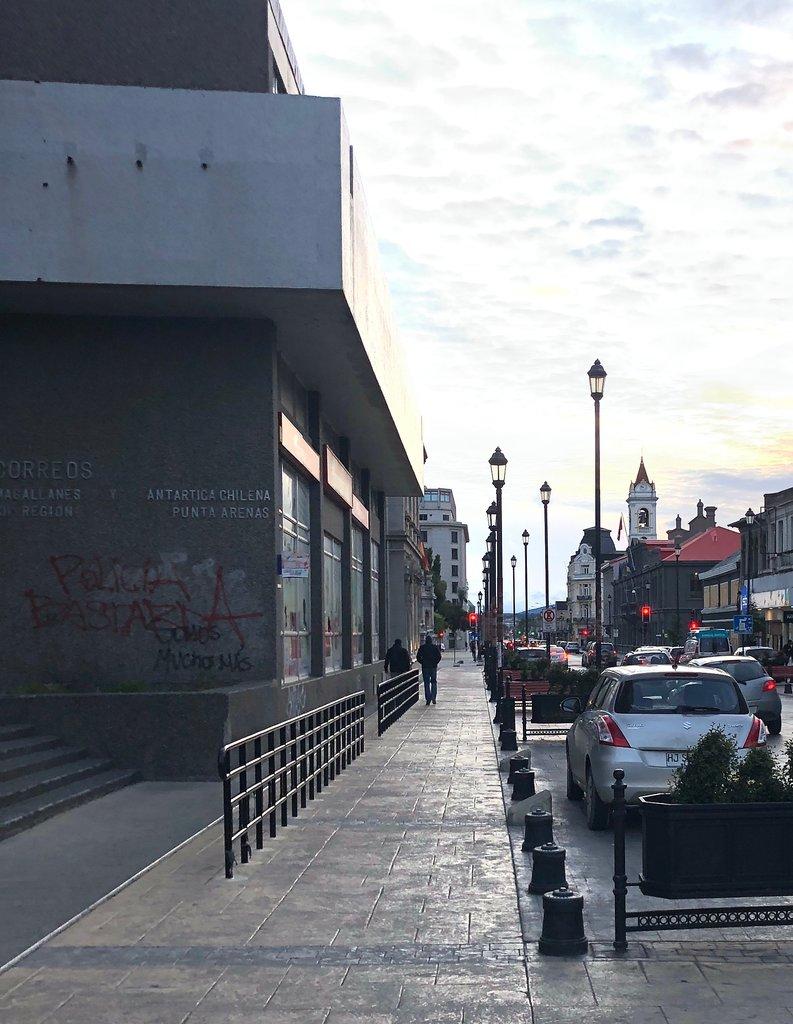 Walking the streets of Punta Arenas | Photo taken by Melody B