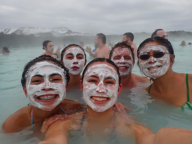 Silica mask in Blue Lagoon | Photo taken by Grace L