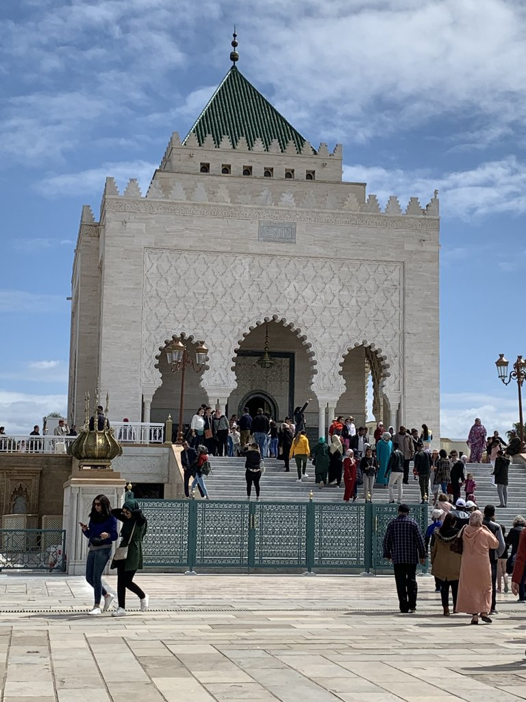 Mausoleum of Mohamed V | Photo taken by Eileen S