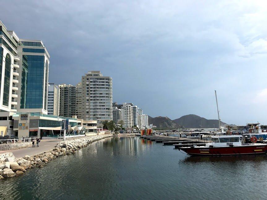 Santa Marta's harbor front | Photo taken by Sophie E