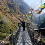 Suspension Bridge Syabru Besi | Photo taken by Donna W