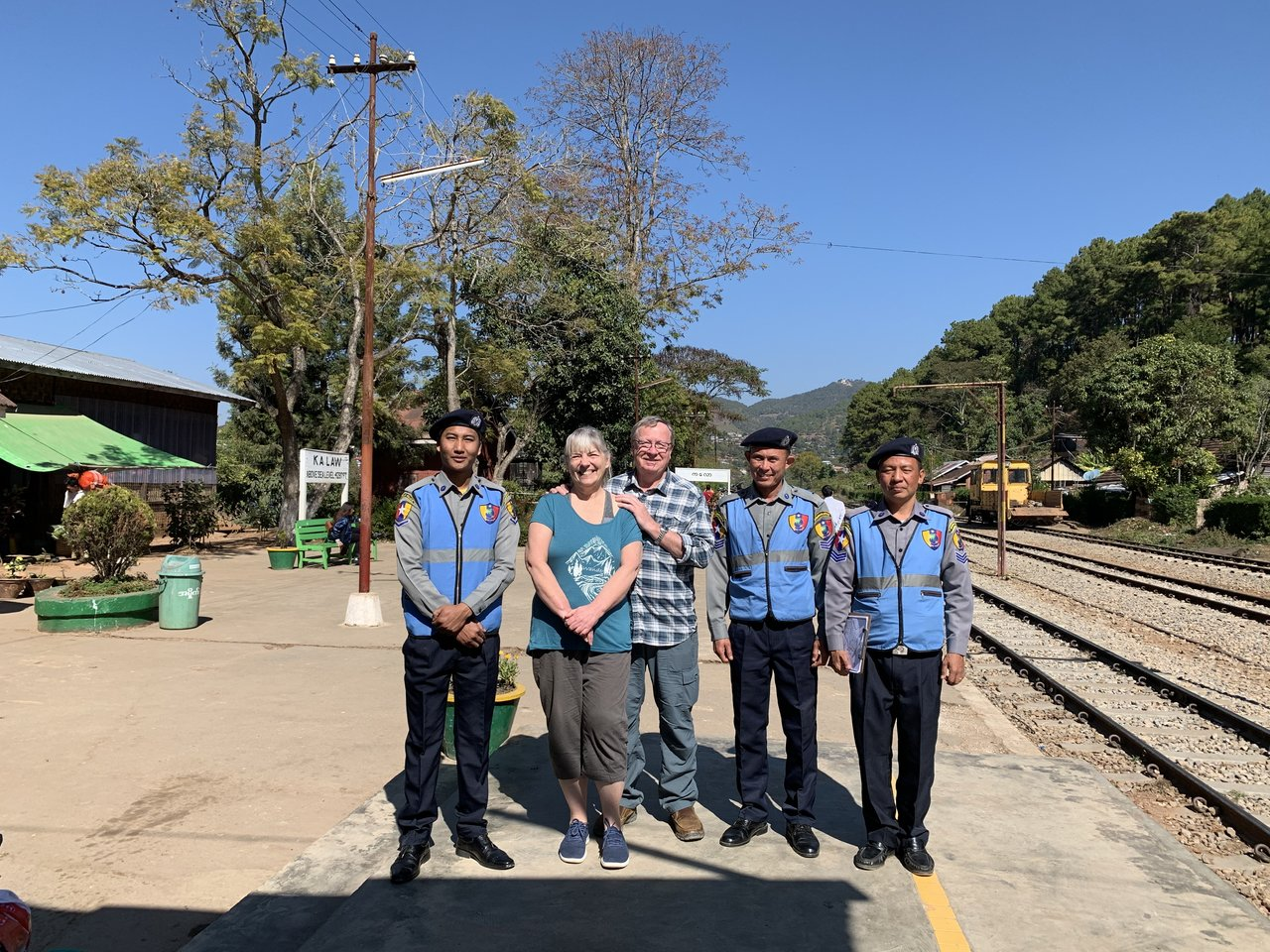 Friendly local train staff | Photo taken by Bonnie S