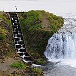 Foxi Waterfall with Salmon Ladder | Photo taken by Dave L