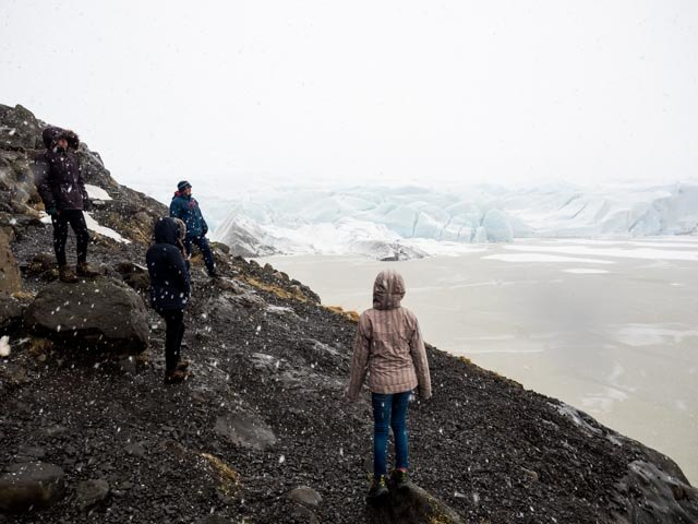 walk to glacier | Photo taken by Grace L