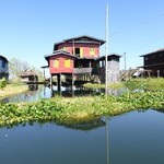 Houses on Inle Lake | Photo taken by ALAN G