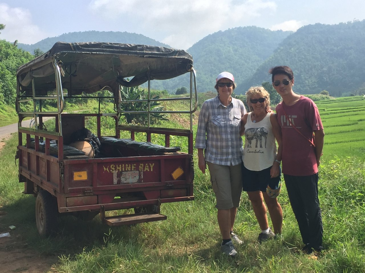Tuk tuk ride into the hills for our 2 day Trek.  | Photo taken by Rachael W