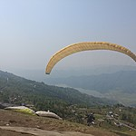 Paragliding in Pokhara | Photo taken by Long W