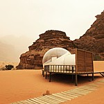 Bubble tent at Wadi Rum Night Luxury Camp | Photo taken by Jennifer K
