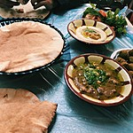 Must-try hummus at Hashem | Photo taken by Jennifer K