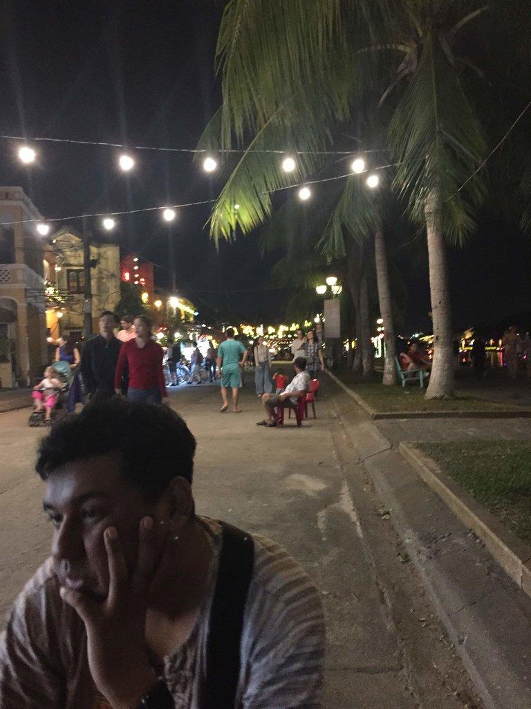 Tired - Eating street food  | Photo taken by Seng Aung S