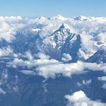 Magnificent Himalayas on the plane to Bhutan  | Photo taken by Lynne N