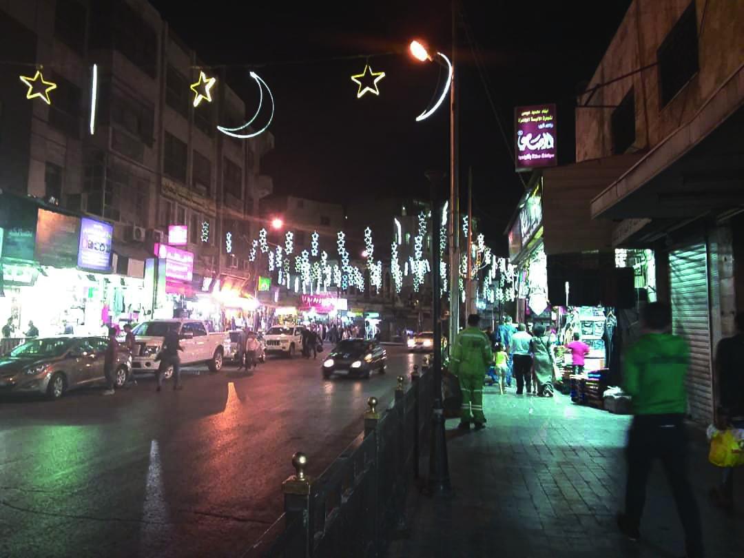 Street near hotel,  Amman | Photo taken by Krish I