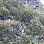 Winding train trip down to Flam | Photo taken by Valerie M