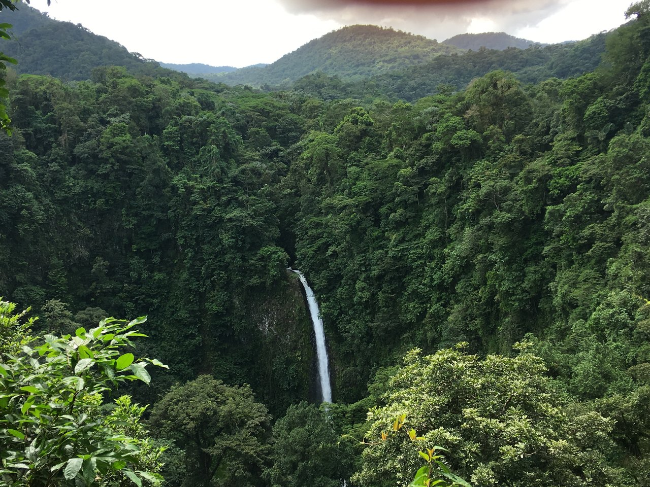 The view of La Fortuna before the descent  | Photo taken by Rachel H