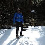 We found snow! | Photo taken by Kristin M