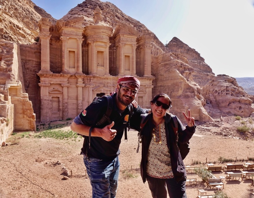 My friend with our cool guide, Ibrahim | Photo taken by Gerelyn G