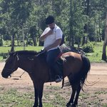 Horseback riding in Terelj National forest | Photo taken by Trina N