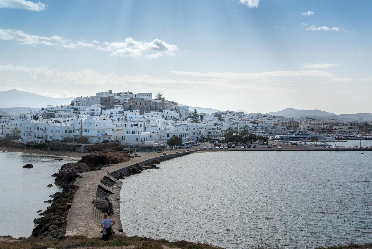 Causeway to Naxos from the Portara | Photo taken by David B