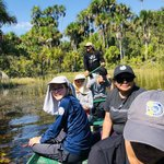 Trying to spot anaconda at Tres Chimbadas Lake | Photo taken by Elisa M