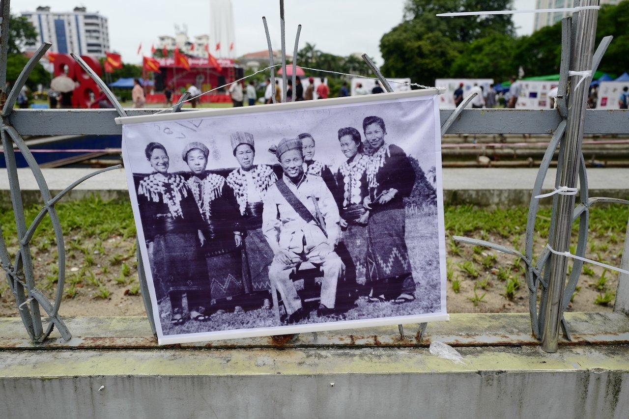General Aung San at 8888 from Maha Bandula Park | Photo taken by Su-Lin T
