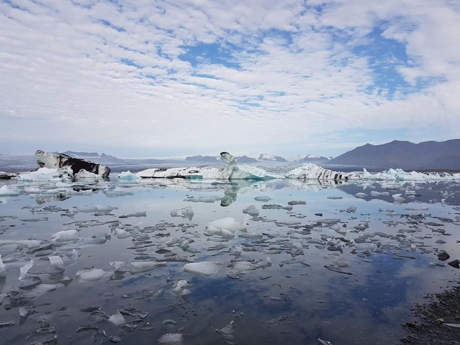 Glacier melt in the south.   Photo taken by Mathew B