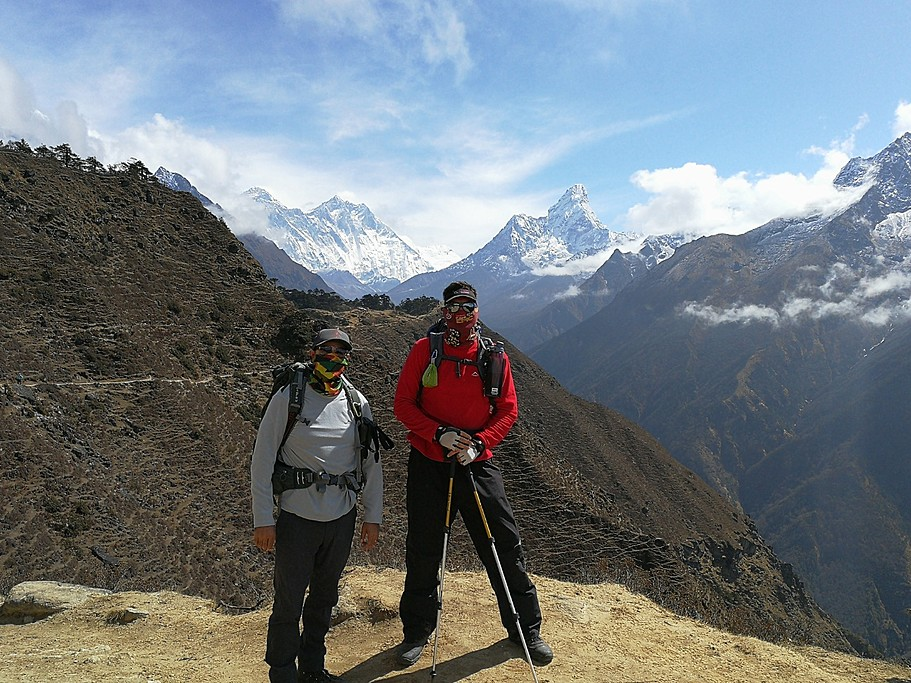 Everest, Nuptse and Ama Dablam | Photo taken by Harold S