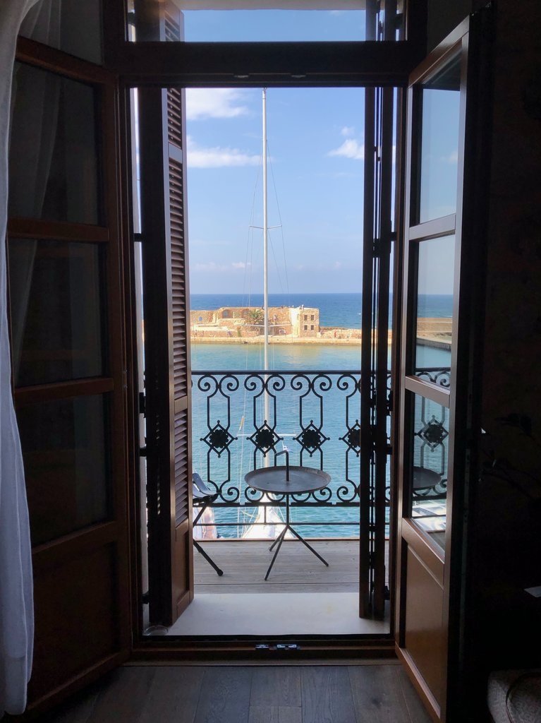 The view from our room in chania | Photo taken by Rebecca R