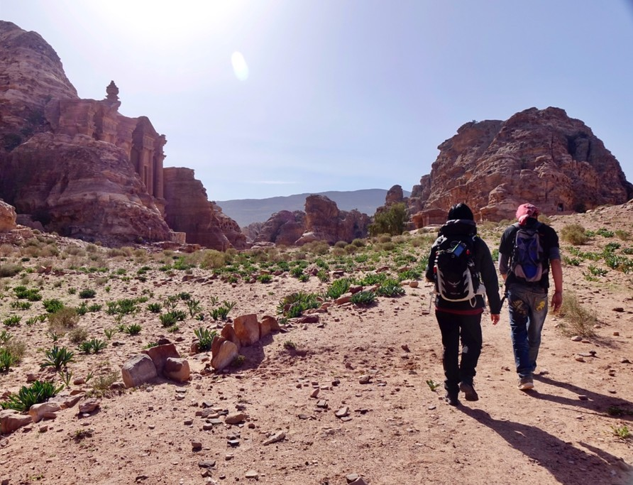 Backdoor hike to the Monastery from little Petra | Photo taken by Gerelyn G