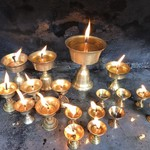 Candles at the Golden Temple | Photo taken by Lisa D