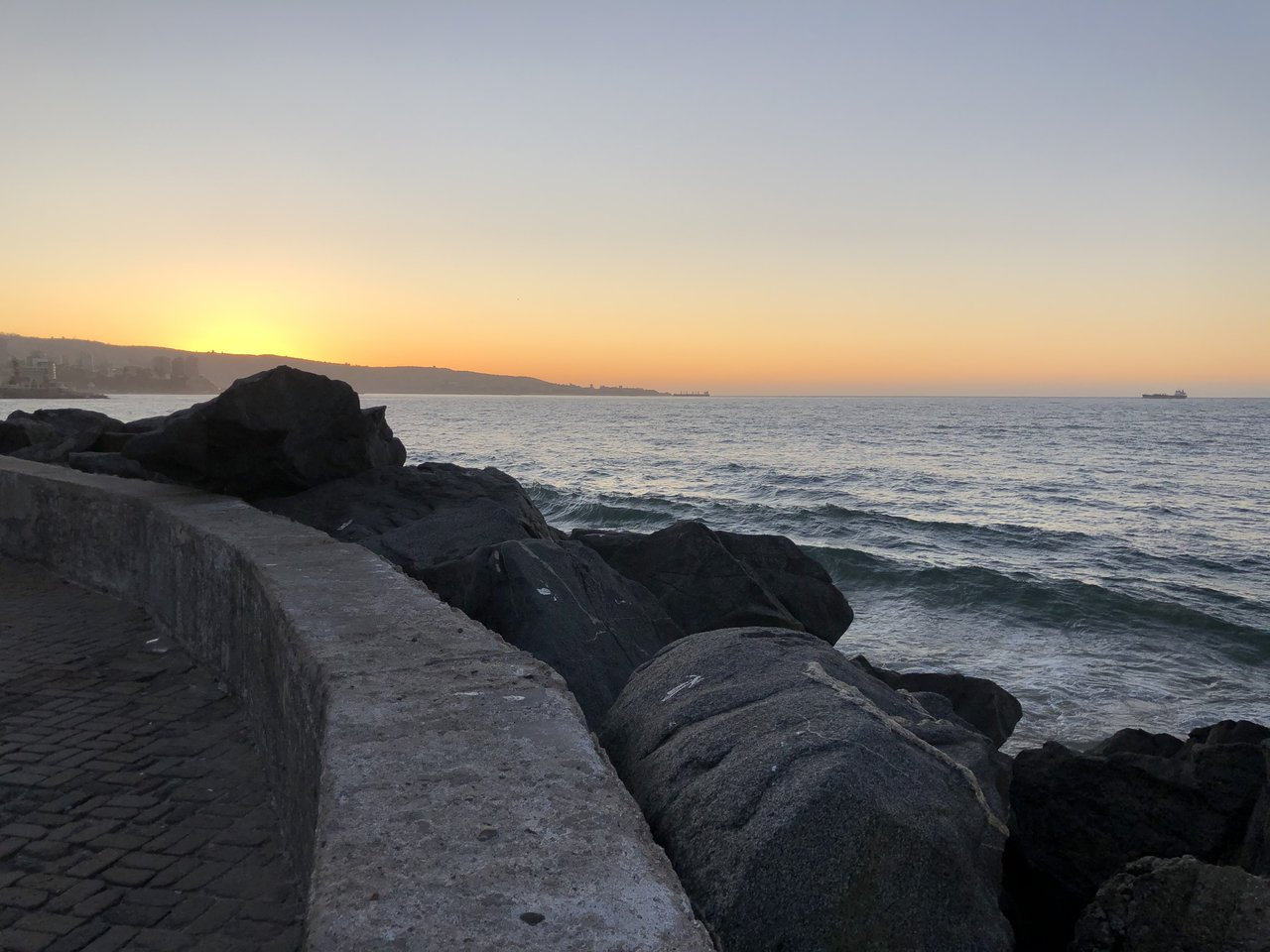 Sunset in Vina del Mar | Photo taken by Melody B