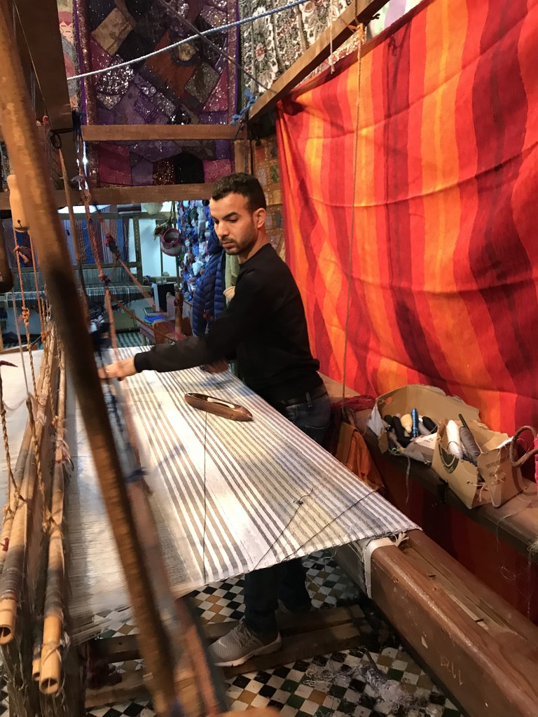 Weaving. Cotton, wool and agave silk.   Photo taken by Chris M