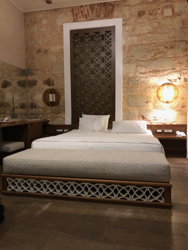 Our beautiful room in Chania | Photo taken by Rebecca R