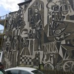 Striking mural on the side of a building. | Photo taken by Alison C