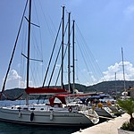 Our sailboat | Photo taken by Jennifer F