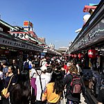 Very crowded in Asakusa | Photo taken by Joost S