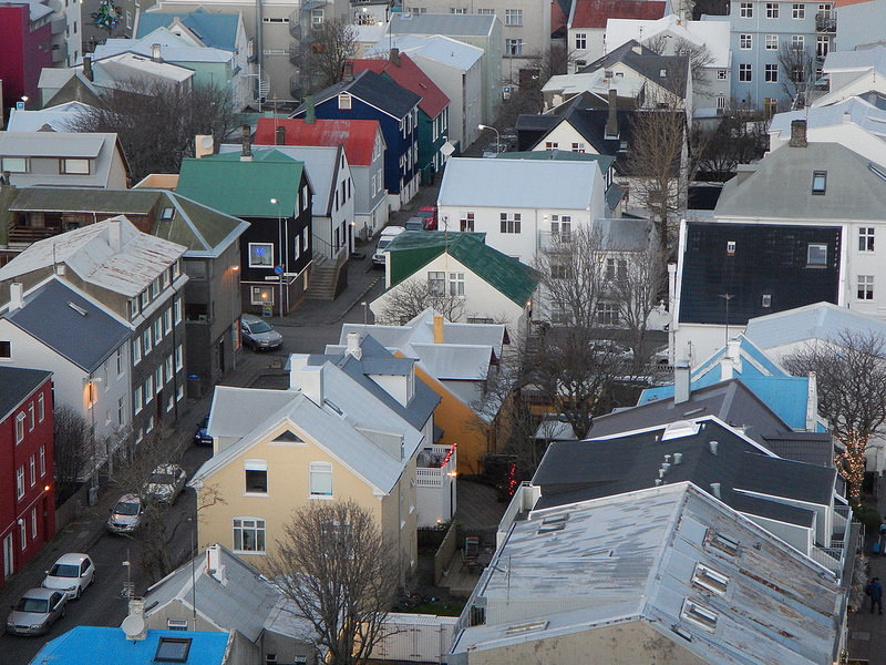 View from the top of Hallgrimskirkja  | Photo taken by Savio F