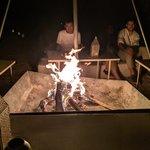 Desert Camp fire with live Berber music | Photo taken by Jordan A