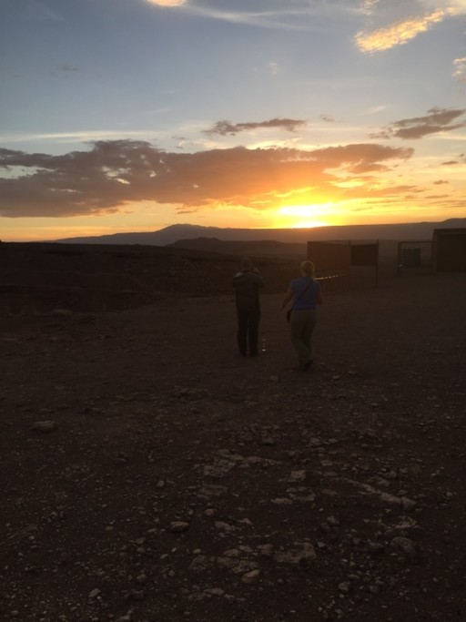 Sunset on Mars Valley, Atacama | Photo taken by Sheila S