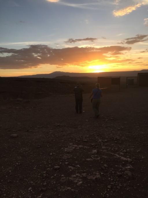 Sunset on Mars Valley, Atacama | Photo taken by Sheila S