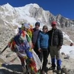 At Larka Pass with our guide Tshering | Photo taken by Susan Georgette
