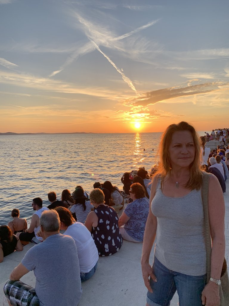Sunset at the Sea Organ (with thousands of others) | Photo taken by Stephen G